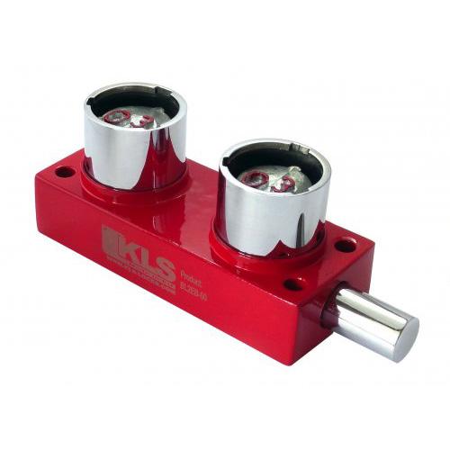 """Serratura a perno heavy duty in ottone pieno, 2 cilindri """" H """" (chiave """" CS """")"""