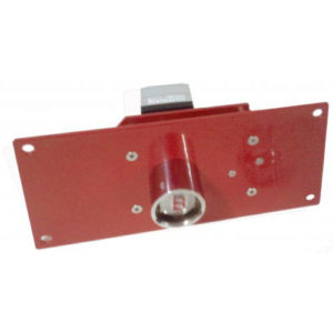 "Panel-Mounted, Heavy Duty Solenoid-Controlled Lock, ""H"" Cylinder with Electrical Feedback"