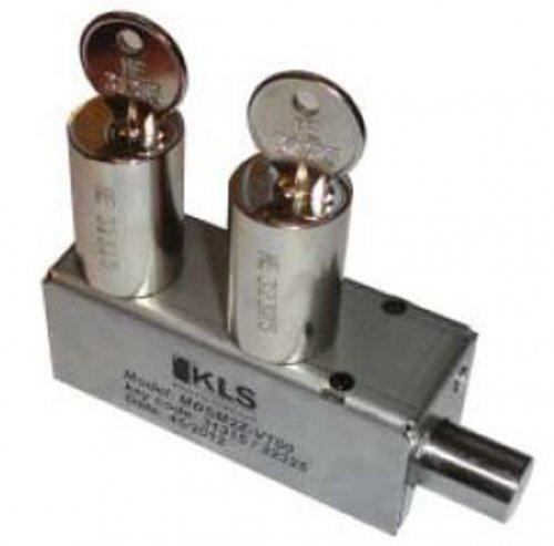 Mini serratura a perno con due cilindri tipo S
